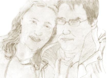 Drawing of Jennie & Chris